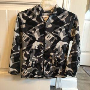 Boys size medium zip up fleece